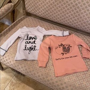 Lovedbaby 2 tops size 12/18 month